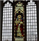 "TM1273 : Yaxley; St. Mary the Virgin Church: The ""Light of the World"" window by Michael Garlick"