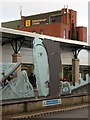 NZ2563 : 'Opening Line', Gateshead Interchange Bus Station (detail) by Andrew Curtis