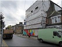 TQ2383 : Construction site, corner of Bathurst Gardens/College Road by David Smith