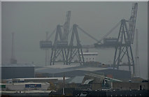 NS2776 : Greenock Ocean Terminal cranes by Thomas Nugent