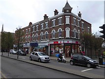 TQ2284 : Post Office and other businesses, High Road, Willesden by David Smith
