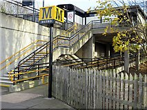 NZ3464 : Bede Metro Station (Platform 2) from Monksway by Andrew Curtis