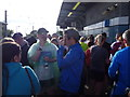 NZ3761 : East Boldon metro station on Great North Run day 2015 by Jeremy Bolwell