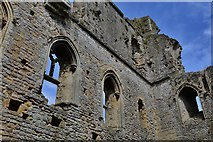 ST5394 : Chepstow Castle: Great tower north east wall detail by Michael Garlick