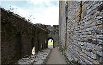 ST5394 : Chepstow Castle: The gallery looking towards the entrance to the middle bailey by Michael Garlick