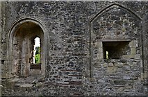 ST5394 : Chepstow Castle: Marshal's tower interior by Michael Garlick