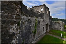 ST5394 : Chepstow Castle: The gatehouse from the south west tower by Michael Garlick