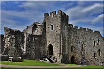 ST5394 : Chepstow Castle: Roger Bigod's later c13th domestic block 2 by Michael Garlick