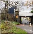 SJ8104 : Northern end of Albrighton railway station footbridge by Jaggery
