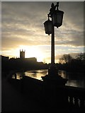 SO8454 : Dawn over Worcester Cathedral by Philip Halling