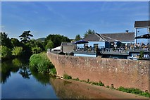 SO5012 : Monmouth: The Gatehouse PH from the Monnow bridge by Michael Garlick