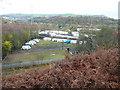 SE0922 : Caravans seen from Elland FP102, Greetland by Humphrey Bolton