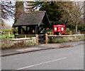 SJ8004 : High Street lychgate and church nameboard, Albrighton by Jaggery