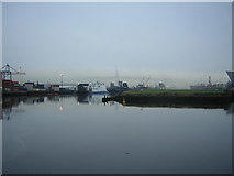 J3475 : Belfast Harbour: view down the River Lagan by Christopher Hilton
