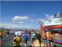 NZ3965 : Near the end of the Great North Run 2015 at The Leas, South Shields by Jeremy Bolwell