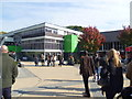SJ8145 : Outside Keele University Student's Union building by Jeremy Bolwell