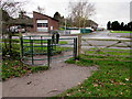 SJ8004 : Kissing gate, Donington & Albrighton Local Nature Reserve by Jaggery