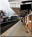 SJ8104 : Platform 1 canopy, Albrighton railway station by Jaggery