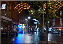 SK5804 : Christmas lights on Leicester High Street by Mat Fascione