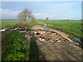 TL3972 : Fly tipping on West Fen Road, Willingham by Richard Humphrey