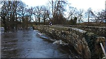 SE1986 : Storm Desmond causes high water levels at Kilgram Bridge by Matthew Hatton