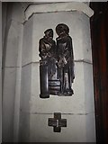TQ5802 : St Mary, Willingdon: First Station of the Cross by Basher Eyre