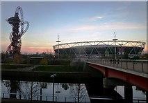 TQ3784 : Bridge over river at Queen Elizabeth Olympic Park by Clint Mann