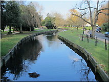 TQ3296 : The New River (old course) north of Church Street (A110), EN2 by Mike Quinn