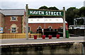 SZ5589 : Four red fire buckets on Havenstreet railway station by Jaggery