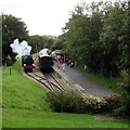 SZ5391 : Reversing past the train at Wootton station by Jaggery
