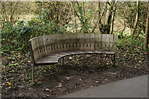 SU4726 : Seat Beside the Itchen Way by Peter Trimming
