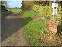 SK2371 : Protest sign at Pilsley by Trevor Rickard