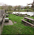 SO2118 : Riverside beer garden, Crickhowell by Jaggery