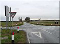 TL2678 : Country roads near Wistow by Stephen Richards