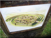 SO3283 : Interpretative information at Bury Ditches by Jeremy Bolwell