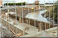 J3674 : New Connswater flood wall, Belfast (December 2015) by Albert Bridge
