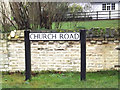 TL3656 : Church Road sign by Adrian Cable
