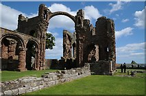 NU1241 : Lindisfarne Priory by Philip Halling
