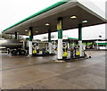 ST5789 : Keyfuels pumps, Severn View Services filling station, Aust by Jaggery