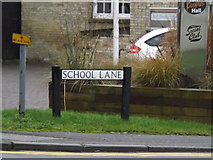TL3656 : School Lane sign by Adrian Cable