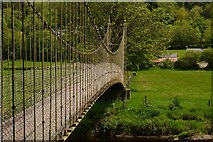 SH7956 : The suspension bridge at Betws-y-Coed by Oliver Mills