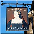 TL8506 : The Queen's Head: Pub Sign by John Myers