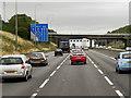 SE2227 : Eastbound M62 Approaching Field Head Lane Bridge by David Dixon