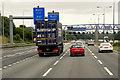 SE2327 : Eastbound M62 Junction 27 by David Dixon