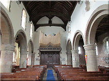 SK5276 : St. Lawrence, Whitwell, nave looking west by Jonathan Thacker
