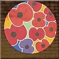 SJ9295 : Denton Remembers (Poppy artwork) by Gerald England