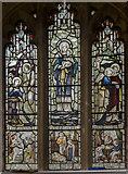 SK7371 : Stained glass window, St Nicholas' church, Tuxford by Julian P Guffogg