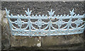 SO1091 : Cast iron panel in a church boundary wall, Newtown, Powys by Robin Stott