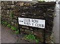 SO2602 : Bilingual Club Row/Rhes y Clwb sign, Snatchwood, Abersychan by Jaggery