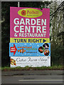 TL4159 : Garden Centre & Restaurant sign by Adrian Cable